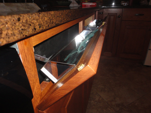 Tip Out Sink Front Trays